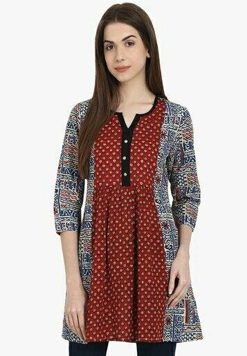 01112e05cc4 Jabong 550/- | Kurti / Neck Patterns | Fashion, Boho dress, Tunic