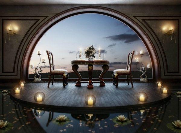 romantische-Interieur-Design-Ideen-Esszimmer