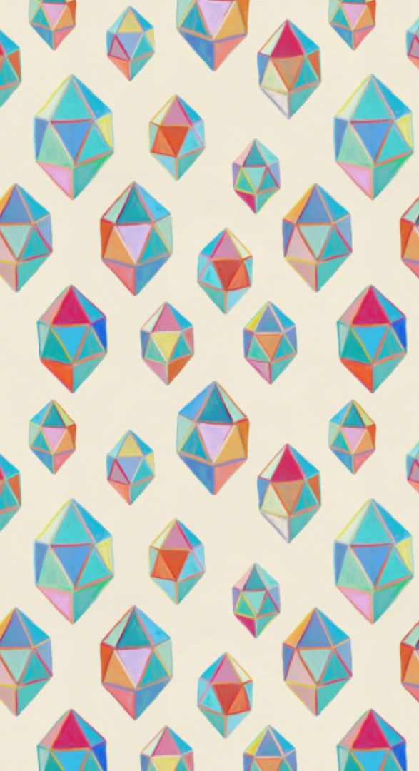 Painted Geometric Shapes / Gemstones - small by Micklyn Le Feuvre on Spoonflower…