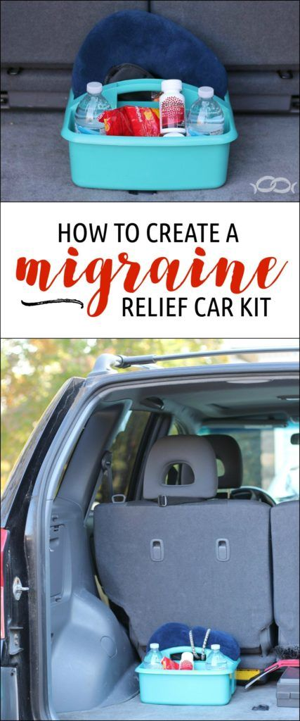 Great idea! We need this in our car. How to Make a Migraine Relief Car Kit http://newlywedsurvival.com/make-migraine-relief-car-kit/