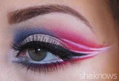 New England Patriots eye makeup tutorial for a gorgeous game face