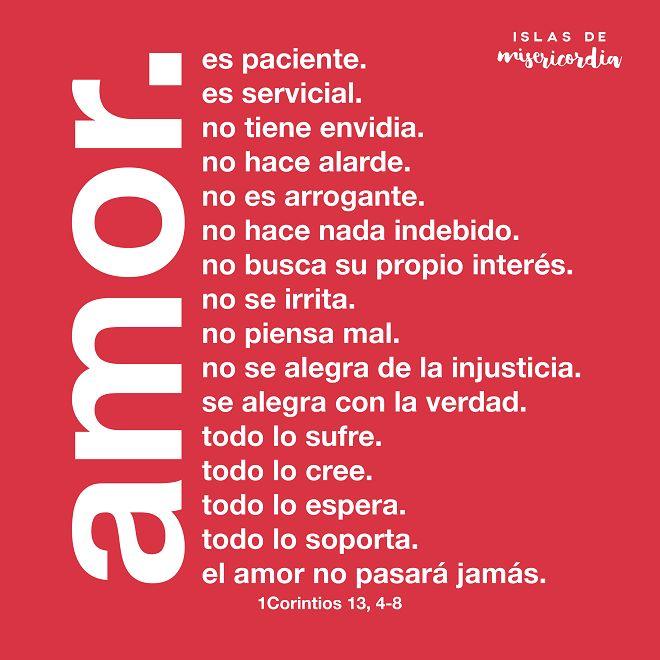 Islas de Misericordia by Sarai Llamas - 1Corintios 13, 4-8 - El amor es... #Bible #Biblia #SaraiLlamas #Amor