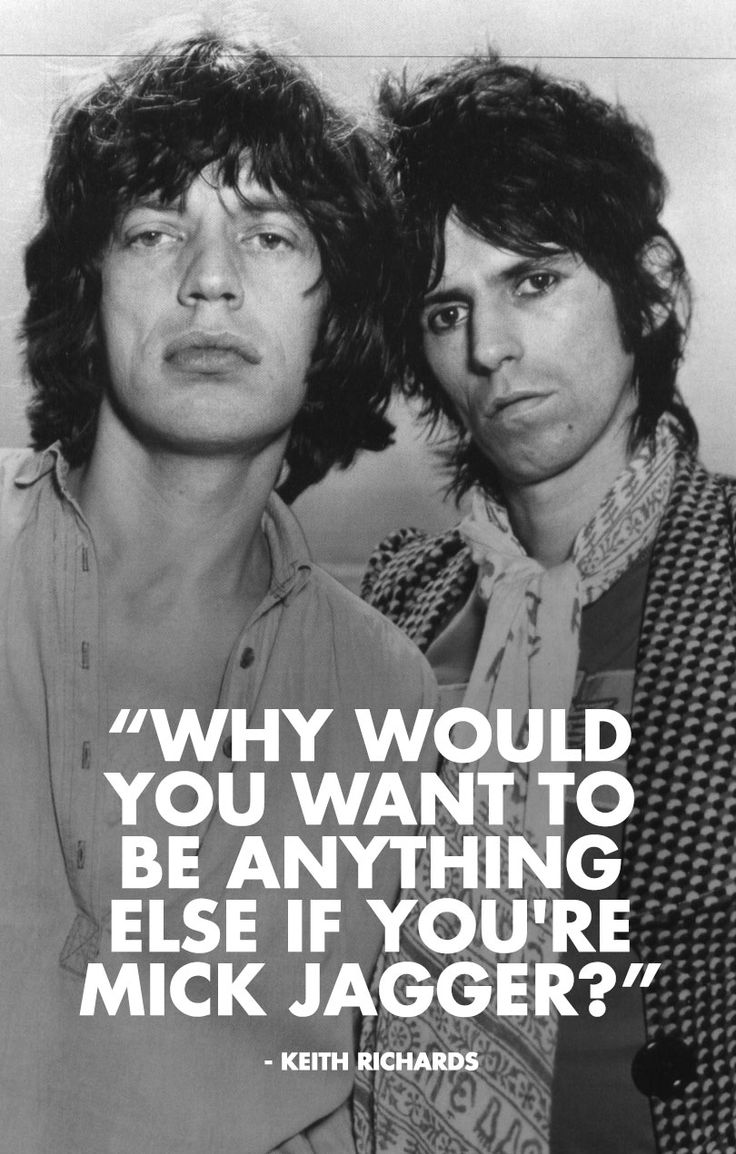 """Why would you want to be anything else if you're Mick Jagger?"" - Keith Richards But you still win the Best rock Hair Ever contest, Keef :) cg"