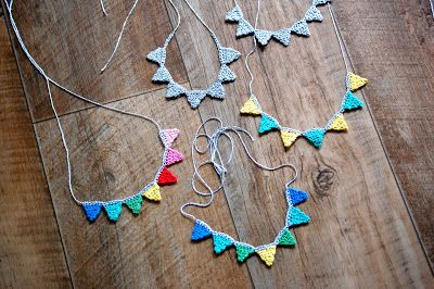 Greedy For Colour: More Baskets and Bunting Necklaces.
