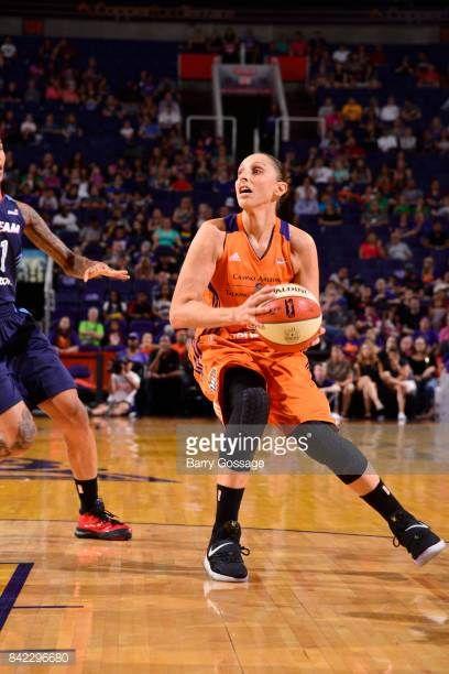 Diana Taurasi of the Phoenix Mercury handles the ball against the Atlanta Dream on September 3 2017 at Talking Stick Resort Arena in Phoenix Arizona...