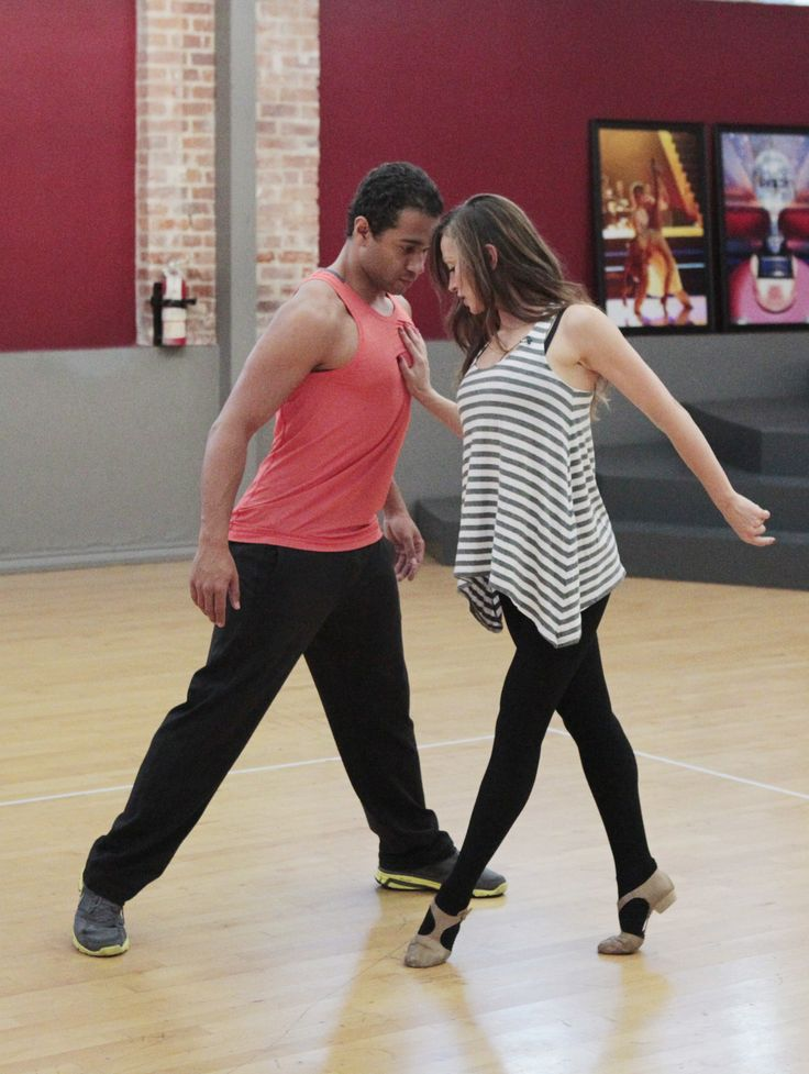 Karina Smirnoff & Corbin Bleu rehearsing for week 2 - season 17 - fall 2013