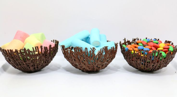 How To Make CHOCOLATE Basket BOWLS with Melted Chocolate by CakesStepbyStep - YouTube