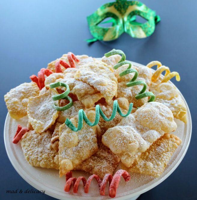 Carnival friters. Crostoli, frappe, chiacchiere