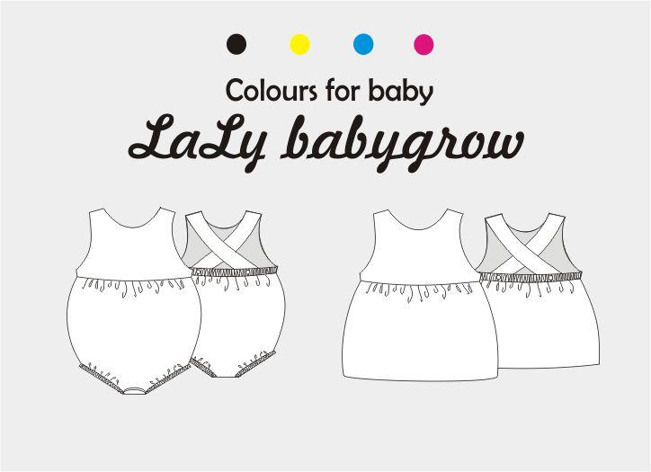 Patrón de ranita o vestido mod. Laly , para niña 6-24 meses ...