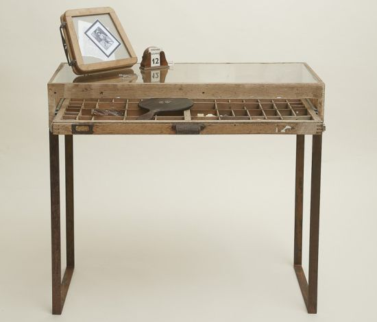 Katie Thompson Printers Tray Table   Home Chunk