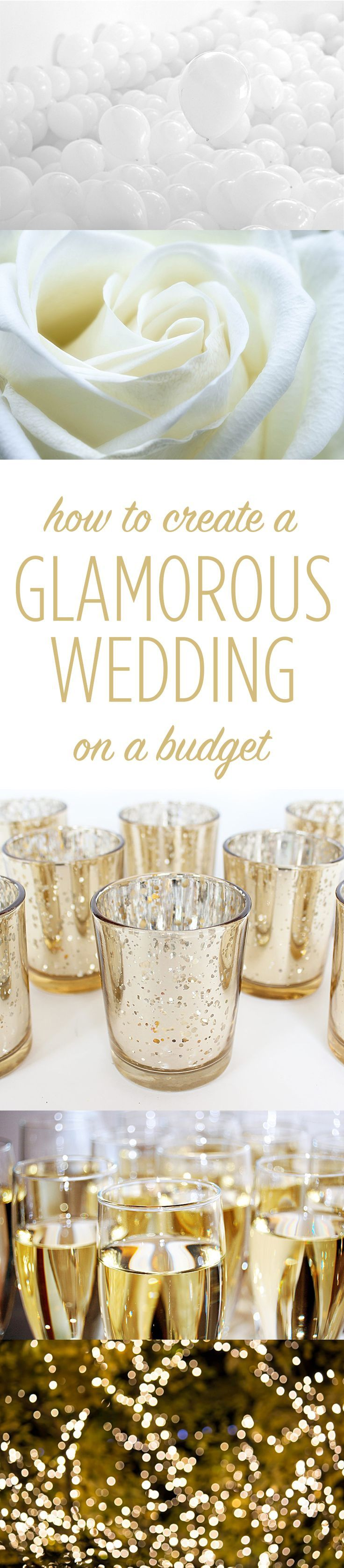 Tips for creating a luxe wedding on a limited budget! Don't miss these budget savvy secrets!
