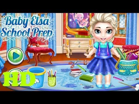 ♥ Disney Elsa Frozen Games Baby Elsa School Frozen Game Episode ♥