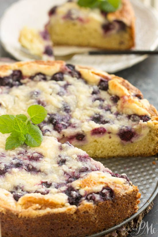 blueberries, crumb cake, dessert. recipe. Streusel Topped Blueberry Cream Cheese Coffee Cake is a magical way to start the day! Crumb cake for breakfast pretty much guarantees a good day!