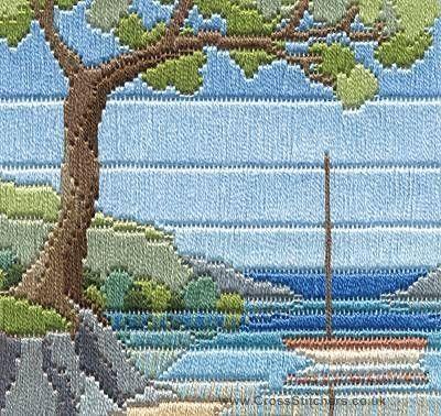 Beach Cove - Silken Long Stitch Kit from Derwentwater Designs
