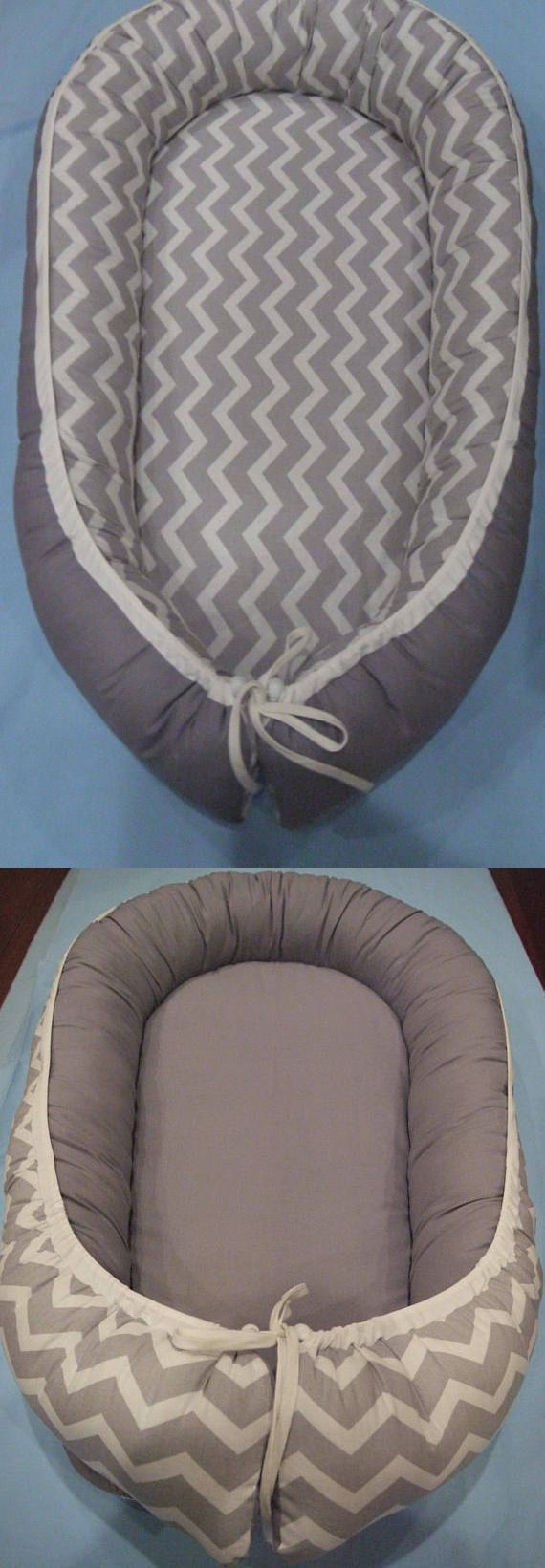 Other Nursery Bedding 20421: Baby Nest 100% Cotton, Baby Bedding, Co Sleeper, Grey Chevron, Travel Bed -> BUY IT NOW ONLY: $64 on eBay!