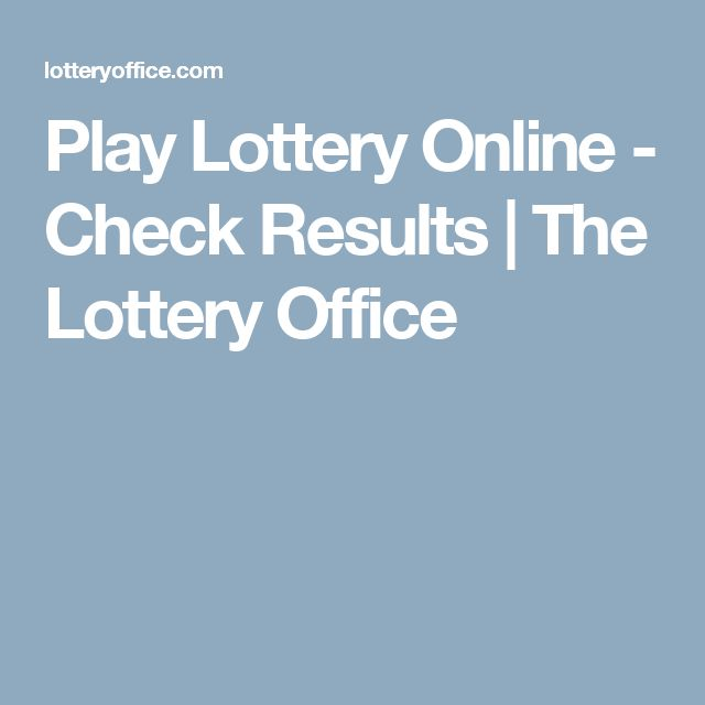 Play Lottery Online - Check Results | The Lottery Office