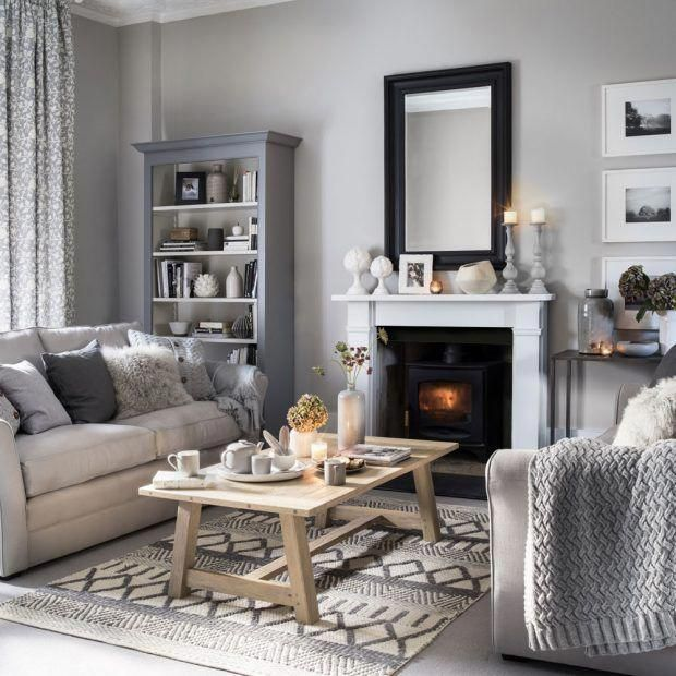 Neutral Living Room Grey Colour Palette