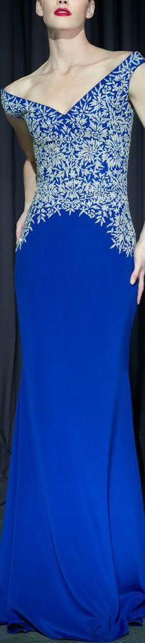 lorena sarbu- astonishing! Royal blue long dress.
