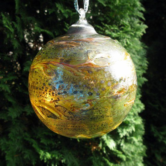 West German / Extra Large / Christmas Ball / Art Glass ...