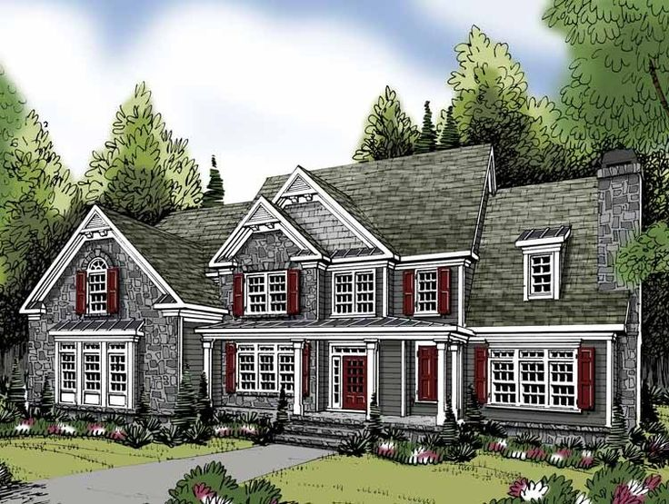 Eplans Traditional House Plan - Five Bedroom Traditional - 4083 Square Feet and 5 Bedrooms from Eplans - House Plan Code HWEPL62856