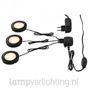 LED Meubelverlichting Set Driedelig #inbouwspot #meubelverlichting #ledverlichting