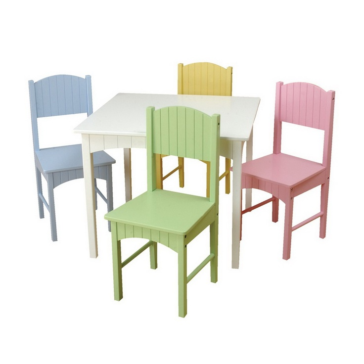 Kids Furniture Kids Nantucket Table And Chair Sets In Pastel Colors  sc 1 st  Pinterest : kids dining table and chair set - pezcame.com