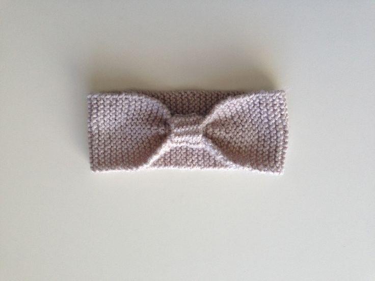 Beige Knit Headband