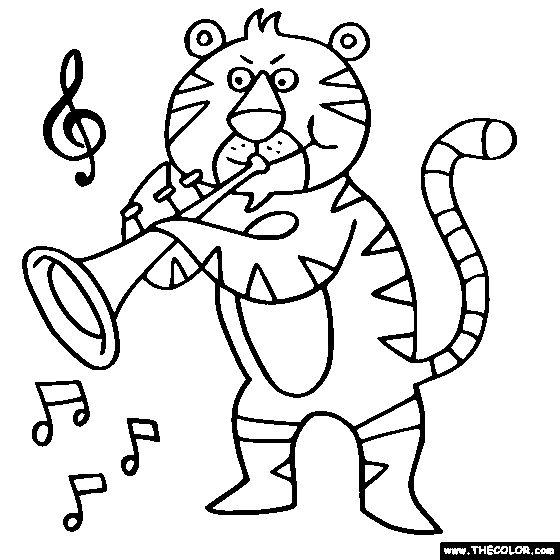 coloring pages of trumpets - photo#21