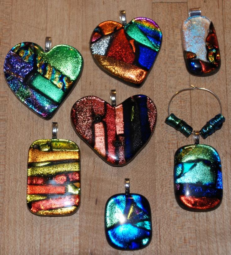 Glass Pendants by Laura Brownfield~beautiful!