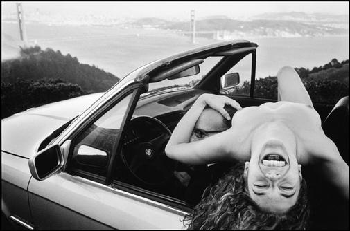 Leonard Freed  USA. San Francisco. California. 2002. Kate at the Golden Gate Bridge.