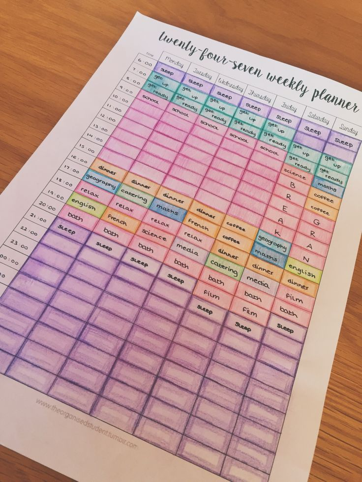 emily's studyblr♡ — Here is my completed study timetable ready for the...