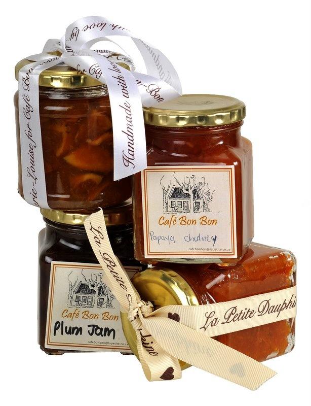 Homemade jams from Cafe BonBon in Franschhoek