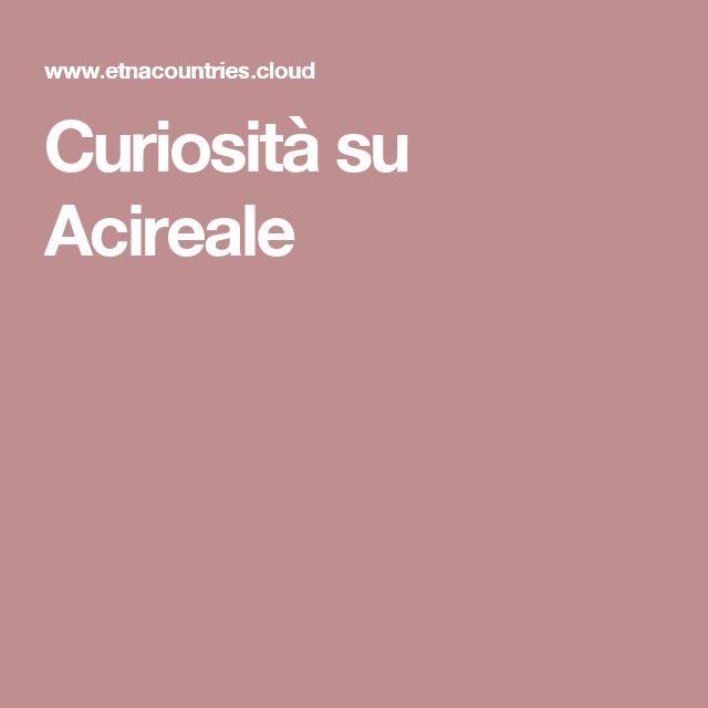 Curiosità su Acireale