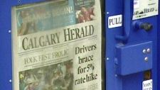 The publisher of some of Canada's largest daily newspapers is selling off two properties in Alberta and B.C. that will result in layoffs in Calgary.  Postmedia is selling off the Calgary Herald building in an attempt to reduce costs and pay down debt.  The company is also selling a printing plant in Surrey, B.C.  Read more: http://calgary.ctvnews.ca/calgary-herald-facing-job-cuts-1.1447921#ixzz2eWY0uQAT