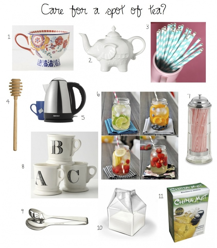 Fun essentials for tea time.