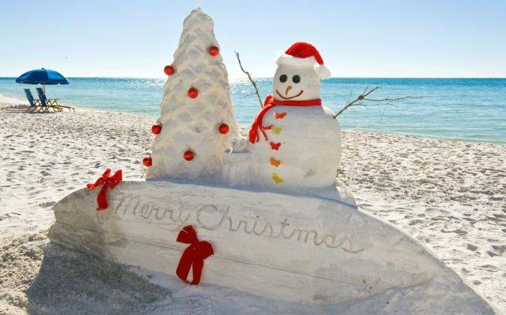 Snowmen on the beach bum dreams
