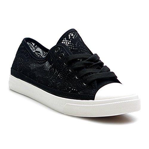 Kayla shoes Damen Turnschuhe mit Spitze Sneaker BB-1637 Black 36 - http://on-line-kaufen.de/kayla-shoes/36-eu-kayla-shoes-damen-turnschuhe-mit-spitze