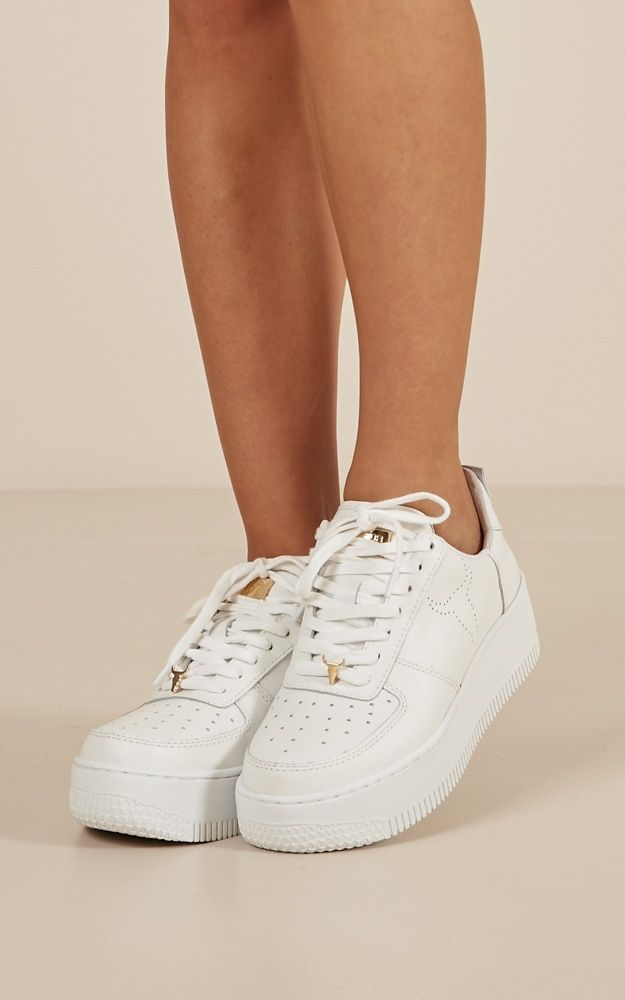 7d19d6496429 Windsor Smith - Racer Sneakers In White Leather Produced in 2019 ...