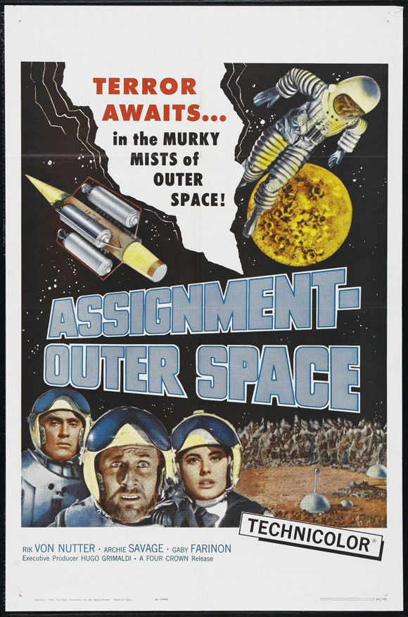 Assignment Outer Space (1960) DVD | Space movie posters ...