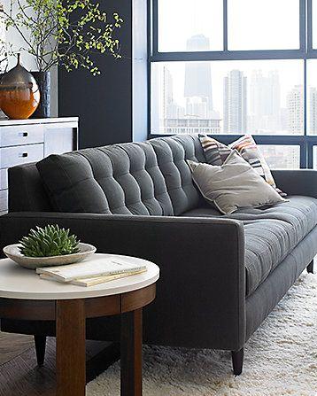 Graphite & Spice sofa - Crate