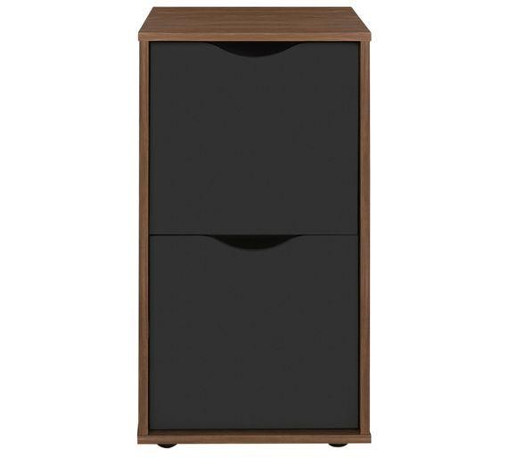 Buy Hygena Berkeley Filing Cabinet - Black and Walnut ...