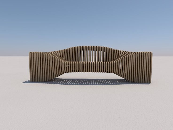 Outdoor #cnc bench by minima