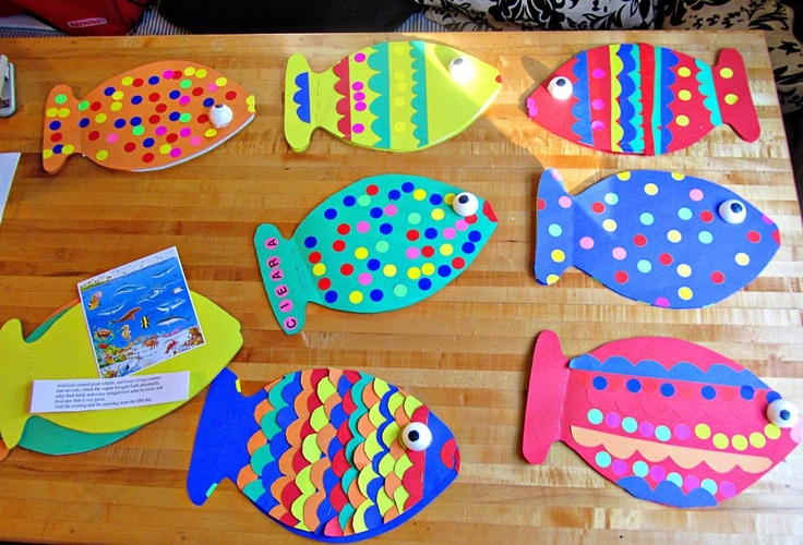 Project--Sunday School Fish Books (Peter fishing craft, decorate fish)