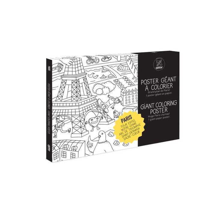 Un véritable voyage plein de surprises et de découvertes de la ville; Sacré-Coeur, Tour Eiffel, Saint- Germain, Arc de Triomphe, une découverte de la capitale tout en coloriant !    Un coloriage pour toute la famille à emporter partout !    D: 100 x 70 cm.    Conçu et fabriqué en France par Omy Design.           12,50 € http://www.lafolleadresse.com/bricolage/4191-pack-poster-geant-a-colorier-paris-100-x-70-cm-omy-design.html