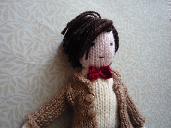 Doctor Who Matt Smith doll knitting pattern by knitforvictory
