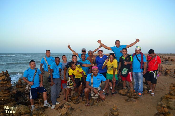 Compartiendo con nuestro equipo de trabajo en la Maravillosa Guajira!