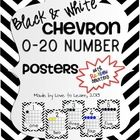 Want to brighten up your classroom but not use too much color ink? Try these black and white chevron number posters. The black and white chevron ba...