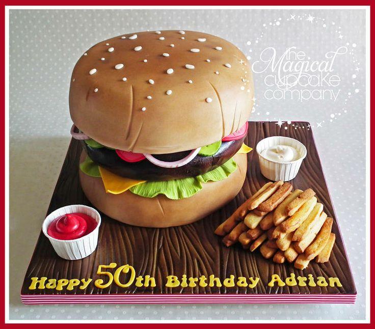... Shaped Cakes on Pinterest | Burger cake, Pizza cake and Vegetable cake