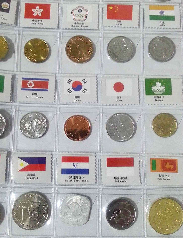 60 Countries Coins Collection Starter Kit Authentic Coins 100% Original Genuine World Coin with Leather Collecting Album Taged by Country Name And Flag
