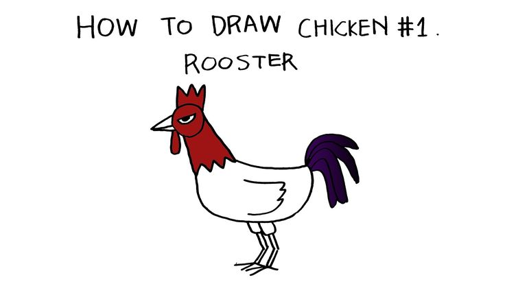 [Happy Drawing] How to draw chicken #1. Rooster